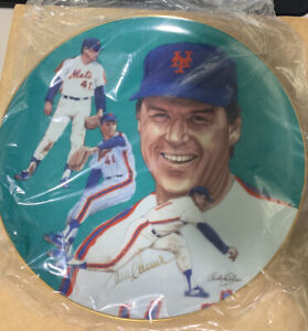 TOM SEAVER SIGNED AUTOGRAPHED HACKETT LIMITED COLLECTIBLE PLATE PSA