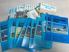 Lot of 37 AIRLINE DATA NEWS 1982 1-37 Leaflet NM Magazine Aeroplane Transport