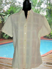 Anne Fontaine Creme Fringe Button-Down Cotton Top Blouse Shirt  3 S FR38 6