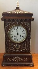 Large French JAPY FRERES Inlaid mahogany silk thread bracket clock