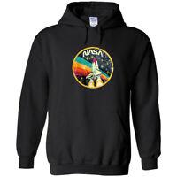 NASA Vintage Logo Hoodie Sweatshirt Space Shuttle UFO Mars Astronaut Retro New