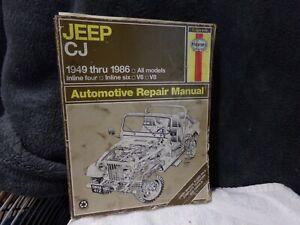Haynes Jeep CJ repair manual 1949-1986