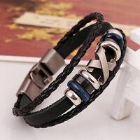 Meilleur cadeau Mode rétro Cuir homme/Femme de Unisexe Bracelet Bijoux Bracelet