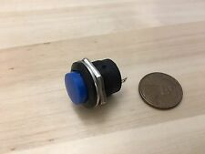 1 Piece Blue small N/O Momentary 16mm push button Switch round 12v on off C18