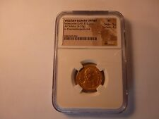 Western Roman Empire Valentinian II AD 375-392 Gold Solidus NGC XF, Ex Heritage