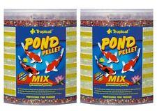 2x 5 Litre Tropical Pond Pellet Mix Premium Pond Food Fish Koi