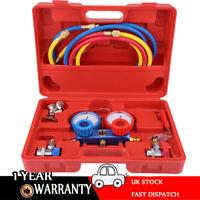 Air Conditioning AC Diagnostic A/C Manifold Gauge Tool Set Refrigeration R-134A