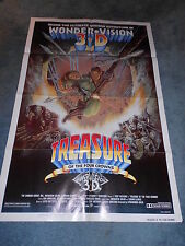 TREASURE OF THE FOUR CROWNS (1983) TONY ANTHONY ORIGINAL ONE SHEET POSTER+