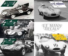 Calcas Jaguar D Type Le Mans 1955 1:32 1:43 1:24 1:18 decals