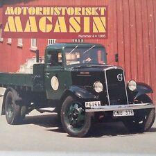 Motorhistoriskt Magasin Magazine Chevrolet Peugeot Pontiac No.4 1995 071017nonrh