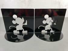 Disney Mickey Mouse Silhouette Bookends Michael Graves Möller Design Black Metal