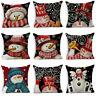 Merry Christmas Cushion Cover Pillowcase Throw Sofa Waist Pillow Case Home Decor