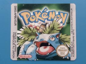 Game Boy Pokemon Green replacement label sticker