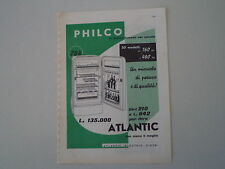 advertising Pubblicità 1958 FRIGORIFERO PHILCO ATLANTIC 784