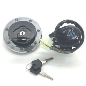 New Ignition Switch Fuel Gas Cap Seat Lock Fit For Kawasaki Ninja ZX6R ZX7R ZX9R