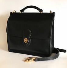 Authentic Vintage Coach Black Leather Willis Bag Purse Crossbody 9927