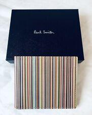 Paul Smith Men Wallet Bifold Multi Stripe Made In Spain 100% Genuine Leather