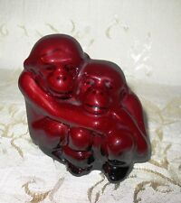 "Royal Doulton Flambe Figurine Hn 254 ""Monkeys (Mother and Baby"" ) 3"" inches Tall"