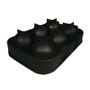 Round 6 Ice Cube Ball Tray Silicone Sphere Mold Bar Whiskey Cocktails w Funnel