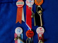 SIX (6) MLB TEAM BADGES / PINS - FROM THE 1950/1960 ERA