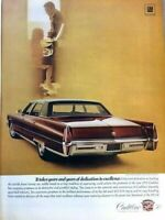 1970 Cadillac Fleetwood Vintage Advertisement Print Art Car Ad Poster LG75