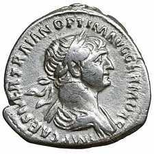Trajan Ar Denarius old ancient roman silver coin Rome Empire Imperial Authentic