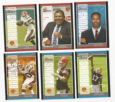 2005 BOWMAN FOOTBALL CLEVELAND BROWNS TEAM SET,LOT (6) SUGGS,3 RC'S,EDWARDS,FRYE
