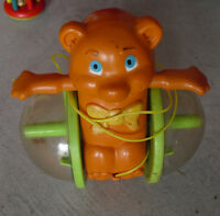 Vintage 1978 Fisher Price Bear Pull Toy 642