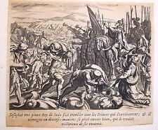 Gravure Etching Kupferstich Bible de Royaumont Sébastien Leclerc Iosaphat Roy