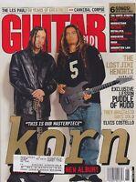 JUNE 2002 GUITAR WORLD vintage music magazine KORN - JIMI HENDRIX