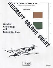 Aircraft Colour Chart: Luftwaffe Aircraft North Africa, Mediterranean  CC-11