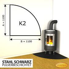 シ Kaminbodenplatte Funkenschutz Ofenplatte Kaminofenplatte Stahl schwarz K2 シ