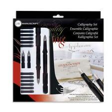 Manuscript Calligraphy Set Kit 4 Nibs, 2 Pens 12 Ink Refills, Manual, Made in UK