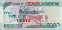 Ghana 5000 Cedis Five Thousand Cedis 2000 Papiergeld Geldschein