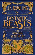 NWT FANTASTIC BEASTS AND WHERE TO FIND THEM ORIGINAL SCREENPLAY JK ROWLING HARD