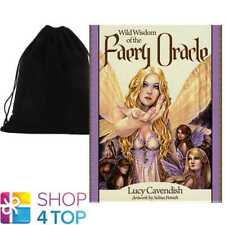 WILD WISDOM OF THE FAERY ORACLE DECK CARDS TELLING BLUE ANGEL WITH VELVET BAG
