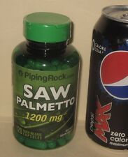Saw Palmetto, 1200 mg mix... Extract & Whole Berry.  120 Quick Release Capsules