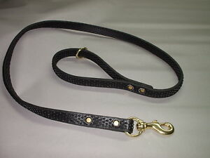 3/4 X 4 FT SUPER GRIPPY LEASH POLICE K9 SCHUTZHUND SUPER STRONG NO SLIPPING