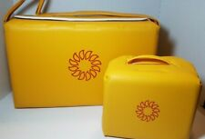Vintage 80's Harvest Yellow Tupperware Picnic & Lunch Bag Sunburst in Box