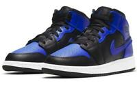 Air Jordan 1 Mid (GS) Black Hyper Royal White 554725-077 Kid's Shoes Size 4Y NEW