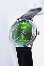 Russian mechanical watch RAKETA QUALITY MARK 24H Green-metallic dial. 34 mm