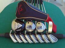 Callaway Fusion Bridgestone Irons Driver Woods Complete Golf Club Set Mens RH