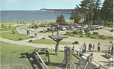 Fort Michilimackinac  Parking Lot  & Straits   Mackinaw City  MI   Postcard  12