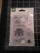 Making Memories clear stamps - Our Wedding Images words just married I love you