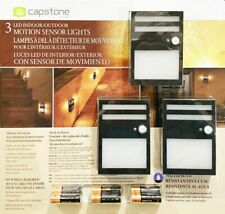 Capstone LED Indoor/Outdoor Motion Sensor Lights 3 Pack with Batteries