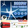 3000W 3/5 Blades Wind Turbine Generator 12V/24V Charge Controller&Power Inverter