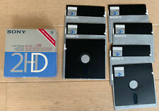 "7x  5.25"" 5 1/4 Inch Floppy Disk Discs Disks - Sony MD-2HD"