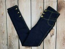 Apple Bottoms Size 7/8 Dark Blue Denim Stretch High Waist Jeans