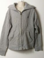 BOYS POLO RALPH LAUREN AGE 10-12 YEARS GREY HOODED ZIP UP SWEATSHIRT JACKET