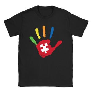 Autism Hand Mens T-Shirt Autistic Aspergers Awareness Gift Present